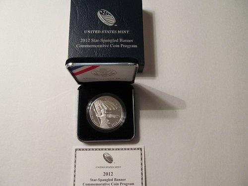 2012 Star-Spangled Banner Commemorative silver dollar