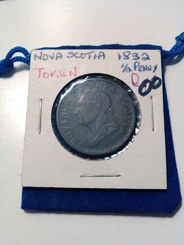 1832 NOVA SCOTIA 1/2 PENNY BANK TOKEN