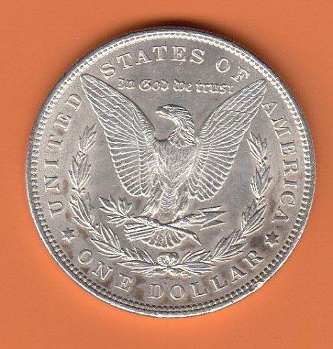 Morgan 1896 Dollar: AU50   / MC26
