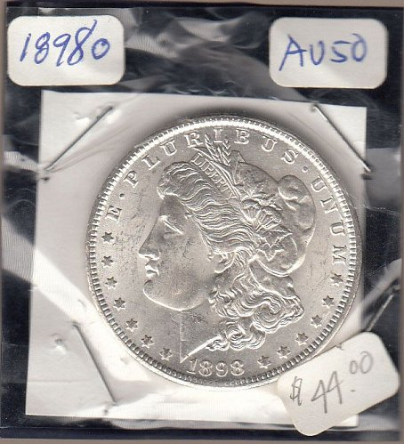 Morgan 1898o Dollar: AU50   / MC27