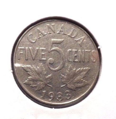 1933 canada nickel