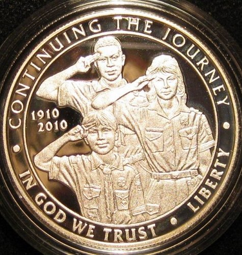 2010 Boy Scouts of America Cenntenial Proof Silver Dollar