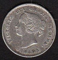 Canadian: 1897  Victoria Nickel  VF20