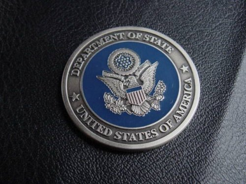 Department of State challenge coin, presented by Secretary of State...