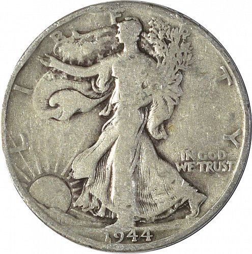 1944 D Walking Liberty Half Dollar, (Item 109)