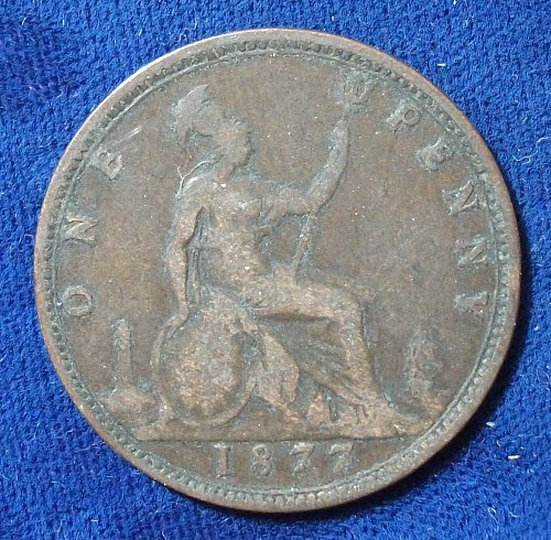 1877 Great Britain Penny VG