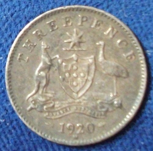 1920M Australia Threepence XF