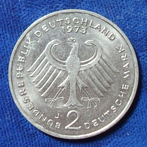 1969J Germany/Federal Republic 2 Marks UNC