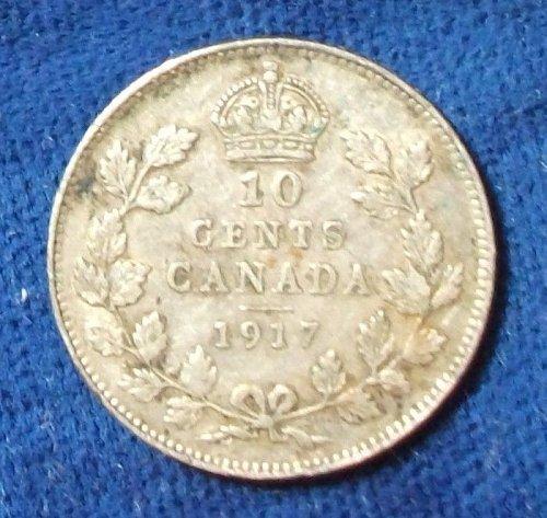 1917 Canada 10 Cents VF-XF