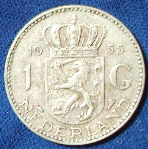 1955 Netherlands Gulden VF+