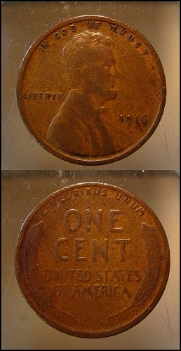 1916  Lincoln Cent Small Cents – Nice Penny
