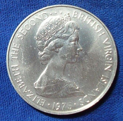 1975 British Virgin Islands 50 Cents UNC