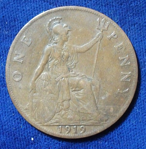 1919 Great Britain Penny VF