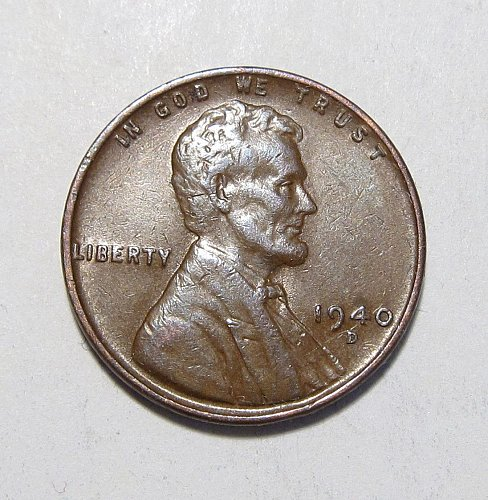 1940 D LINCOLN WHEAT CENT RPM REPUNCHED MINT MARK