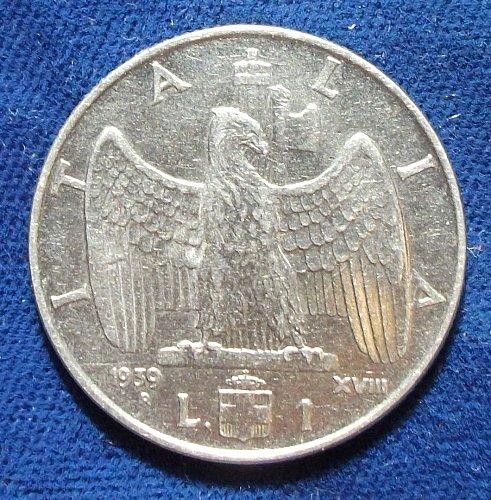 1939 XVIII Italy Lira XF