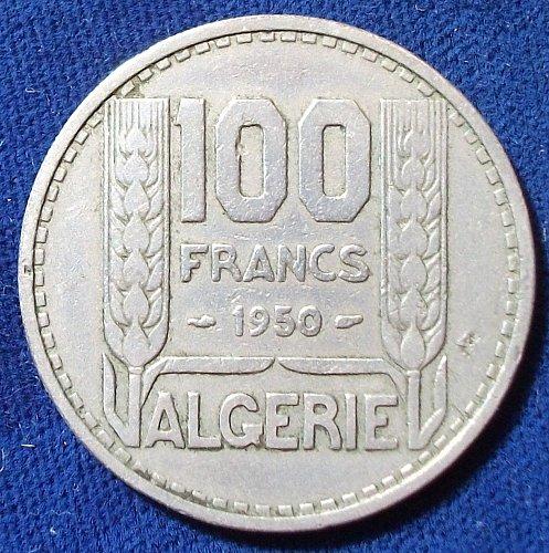 1950 Algeria 100 Francs VF