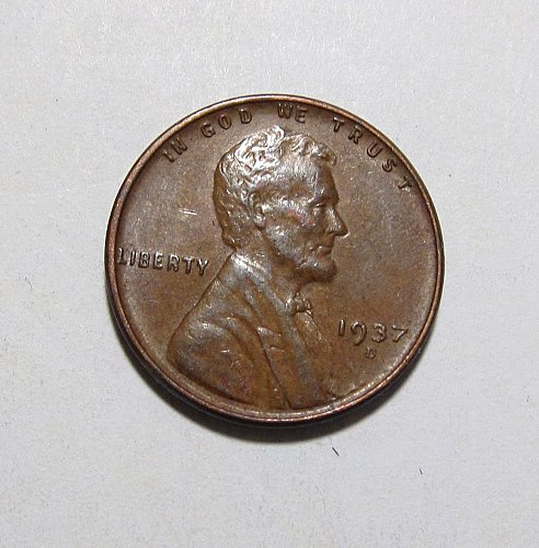 1937 D LINCOLN WHEAT CENT DDO DOUBLE DIE OBVERSE ERROR
