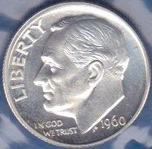 1960 P Roosevelt Dime