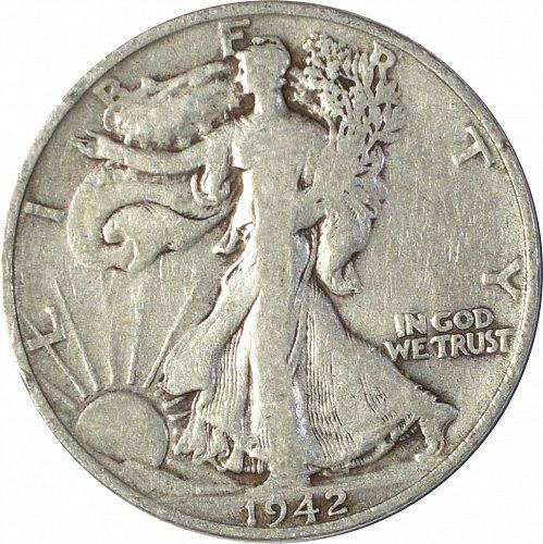 1942 S Walking Liberty Half Dollar,  (Item 135)