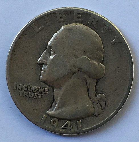 1941 P Washington Quarter