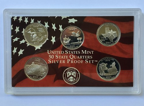 2004 S Silver 5 Piece Quarter Proof Set