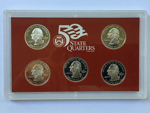 2004 S Silver 5 Piece Quarter Proof Set