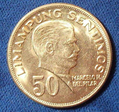1972 Philippines 50 Sentimos BU