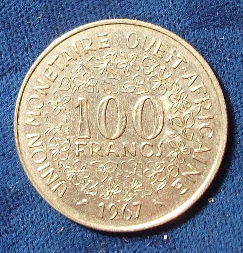 1967 French West Africa 1967 Francs XF