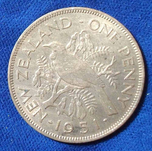 1951 New Zealand Penny UNC