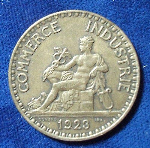1924 France 2 Francs XF, 1923 2 Francs FINE