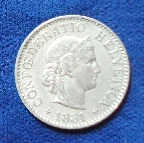 1881 Switzerland 5 Rappen VF