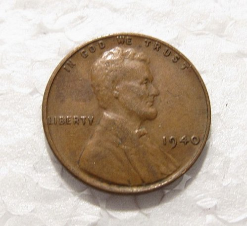 1940 P LINCOLN WHEAT CENT DDR DOUBLE DIE REVERSE