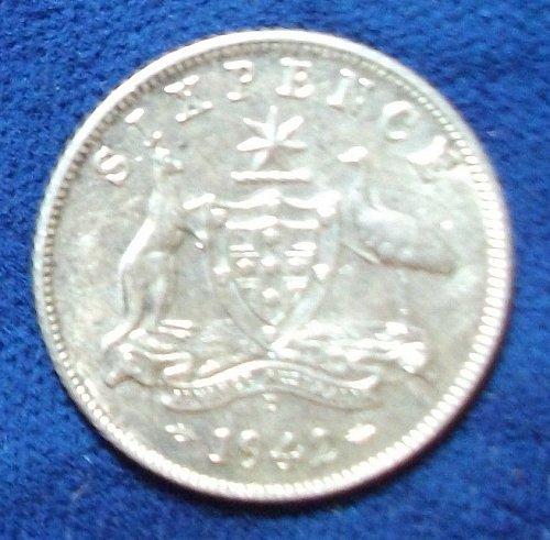 1942D Australia Sixpence AU