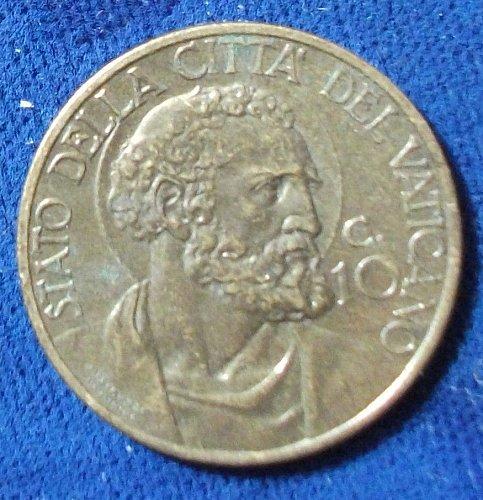 1939/I Vatican City 10 Centesimi AU