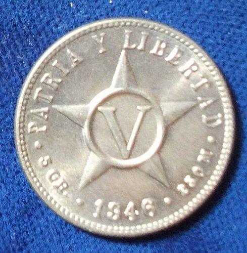 1946 Cuba 5 Centavo BU