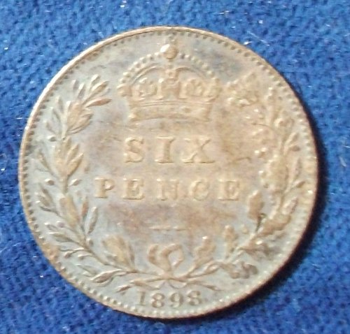 1898 Great Britain Sixpence VF