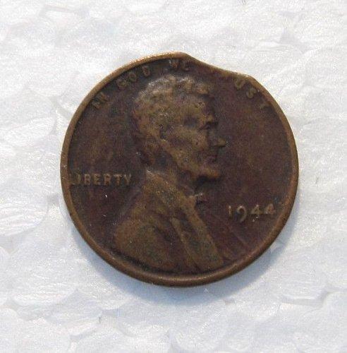 1944 P LINCOLN WHEAT CENT CLIPPED ERROR