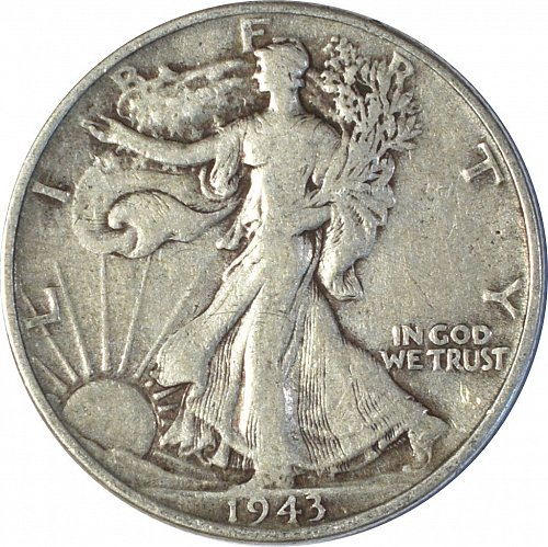 1943 Walking Liberty Half Dollar,  (Item 150)