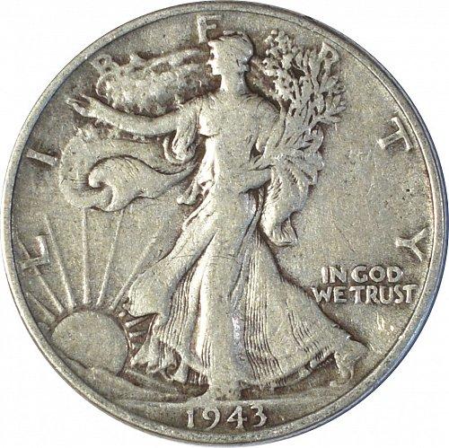 1943 Walking Liberty Half Dollar,  (Item 150)