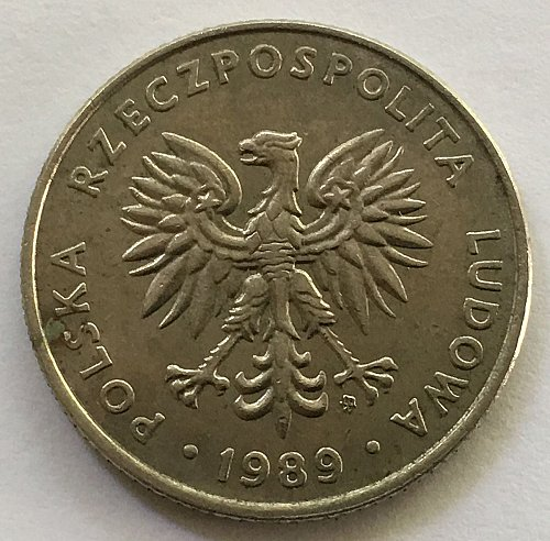 Poland - People's Republic 1989 20 Zlotych