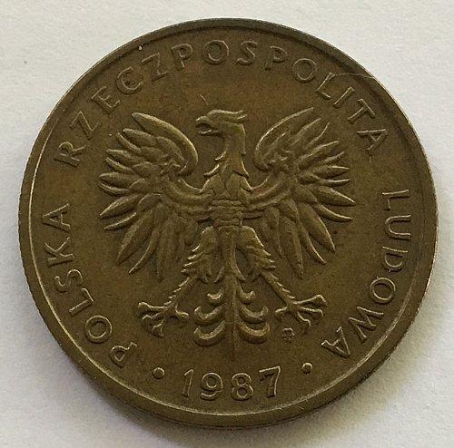 Poland - People's Republic 1987 5 Zlotych