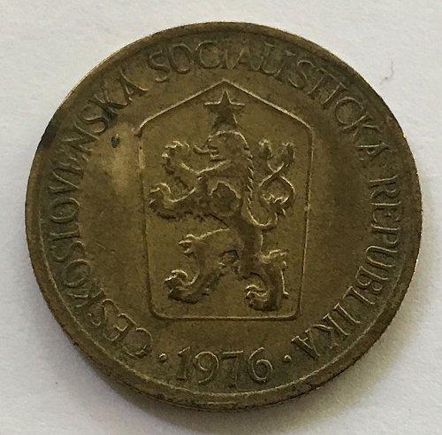 CZECHOSLOVAKIA 1976 1 KORUNA KCS COIN