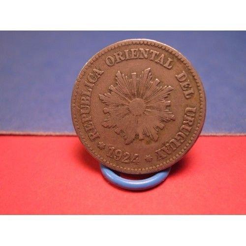 1924 uruguay 2 centesimos