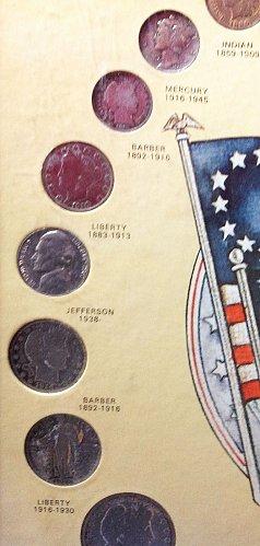Framed Presentation:U.S. Coins of 20th Century. 24 coins / MC-47