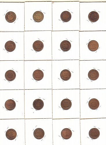 Indian Head Penny Collection from1881-1903 (25)   / MC-49