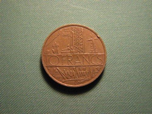 France 1978 10 francs coin