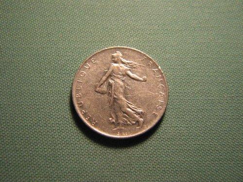 France 1976 1 franc coin