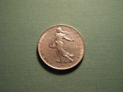 France 1969 1 franc coin