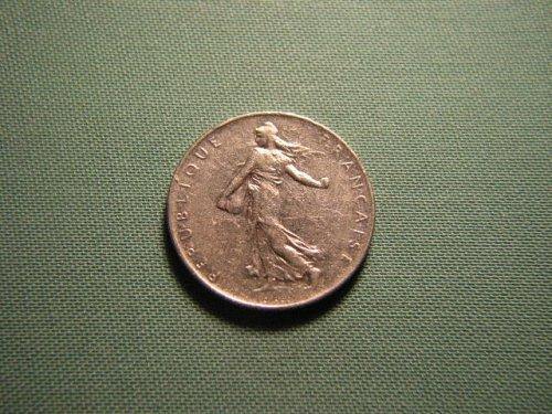 France 1977 1 franc coin