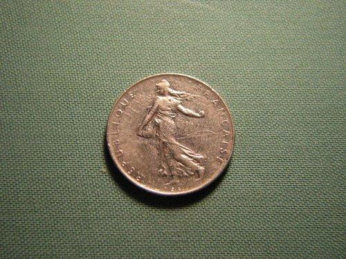 France 1975 1 franc coin